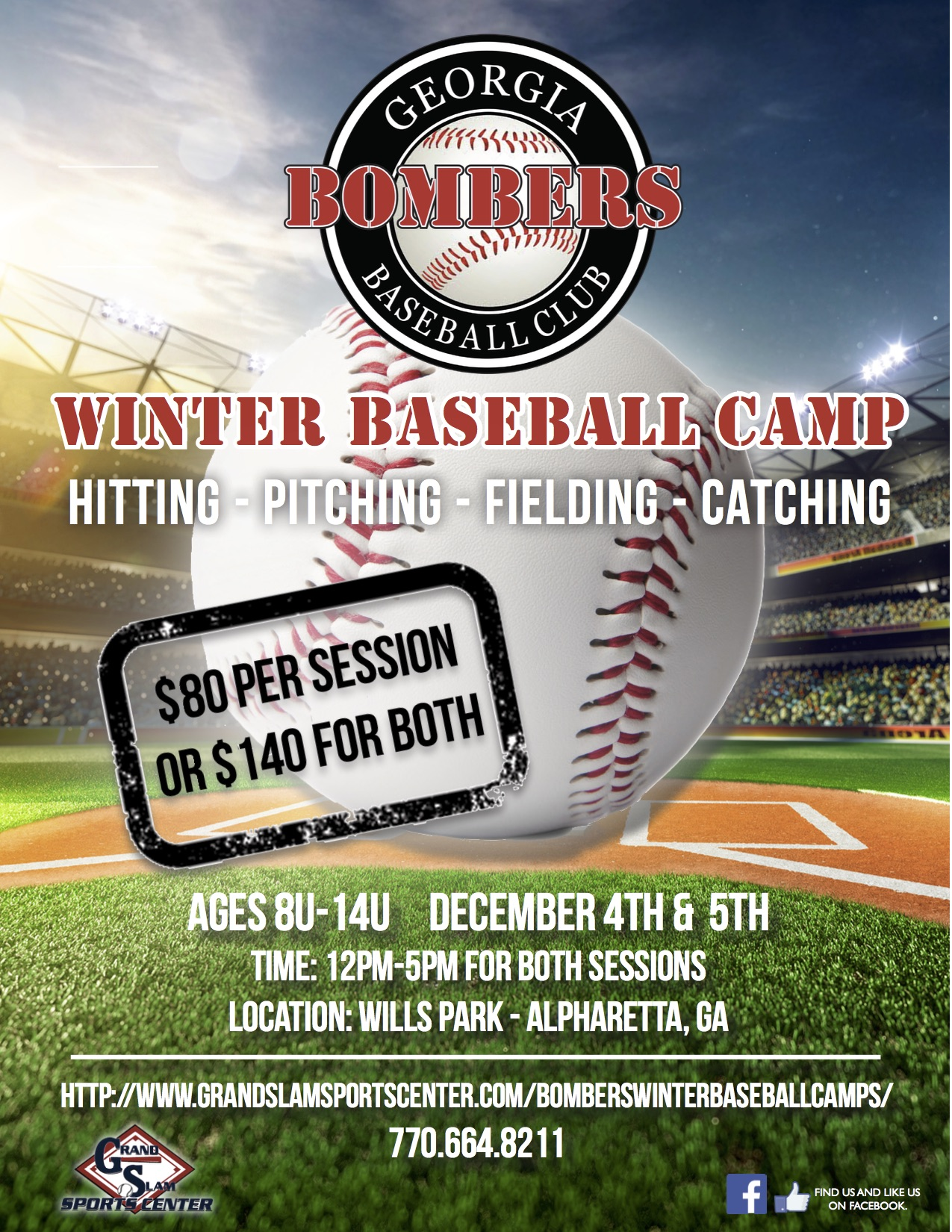 2015 Bombers Winter Baseball Camps