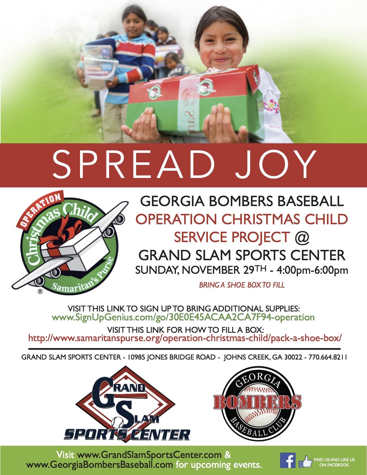Georgia Bombers – Operation Christmas Child