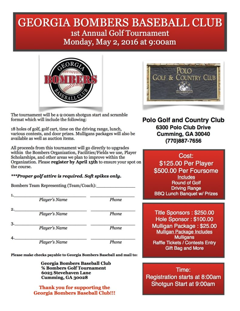 Bombers Golf Tournament