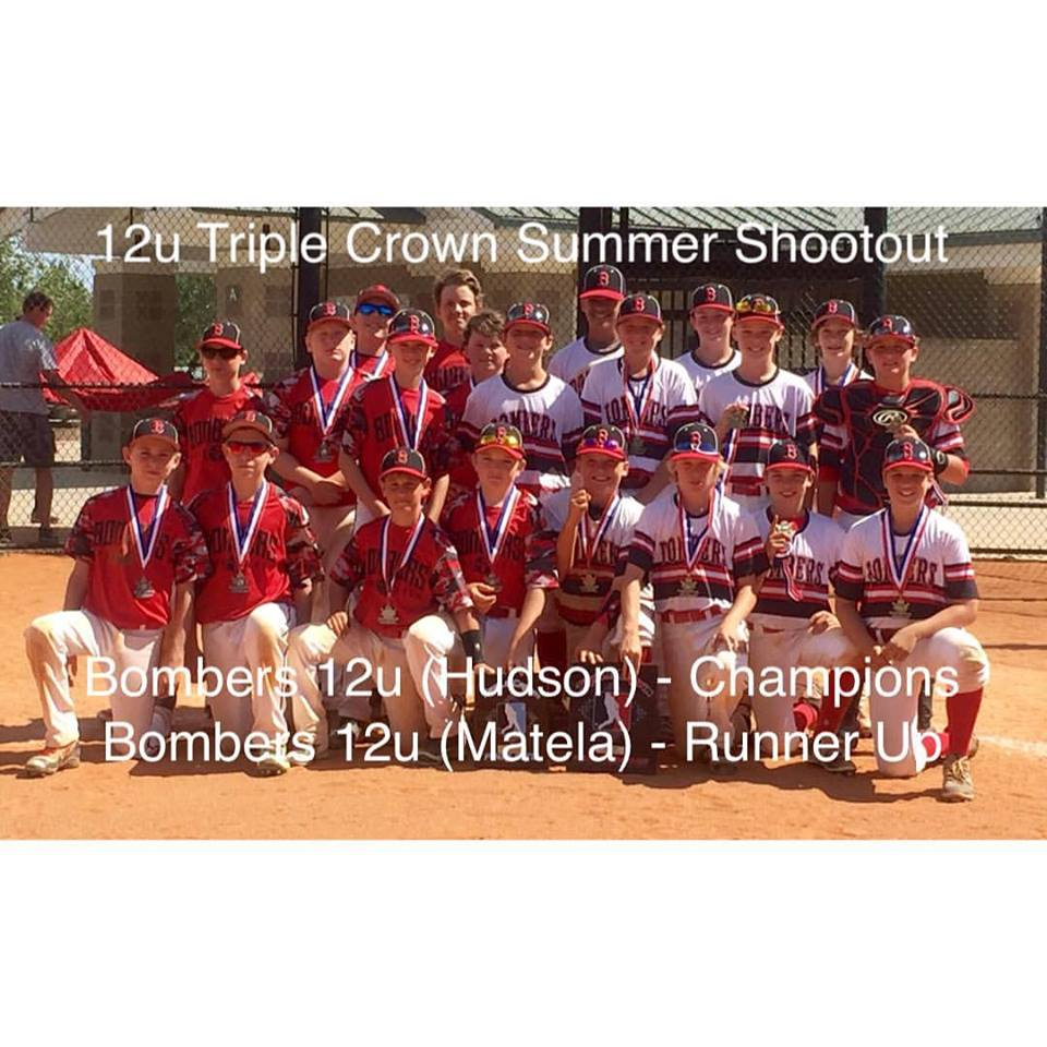 Bombers 12U Teams Represent in Triple Crown Championship