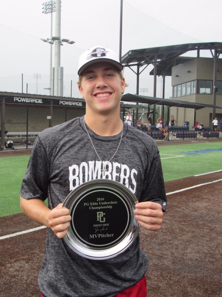 Luc Scudellari takes Most Valuable Pitcher at PG elite Underclass