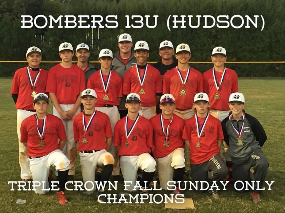 Bombers 13U (Hudson) wins Triple Crown Sunday Series #6