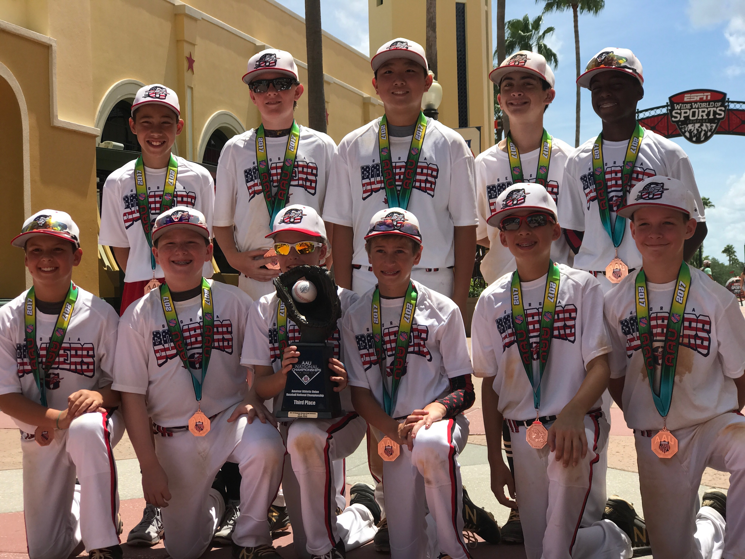 Bombers 11U (Lazzara) takes 3rd at AAU Nationals