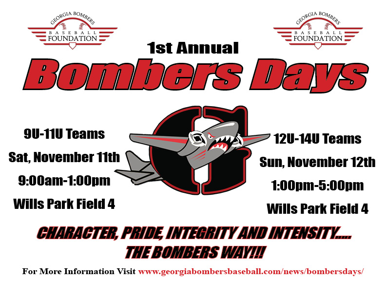 Bombers Days Coming Up On November 11th and 12th